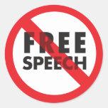FREE SPEECH ROUND STICKERS