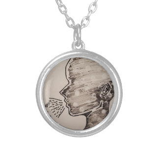 Free Speech Silver Plated Necklace