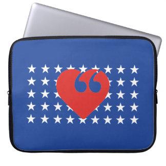 "Free Speech USA Love 15"" Laptop Sleeve"