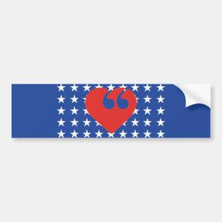 Free Speech USA Love Bumper Sticker