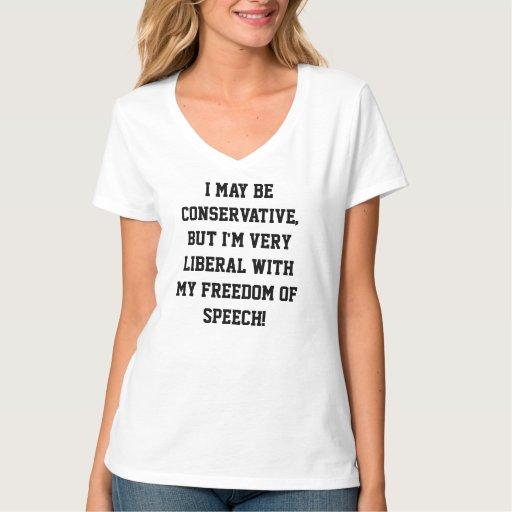Free Speech Womens Nano V T-shirt  D0004