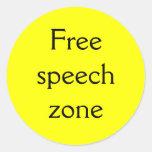 Free speech zone classic round sticker