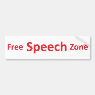 Free Speech Zone, just words Bumper Sticker