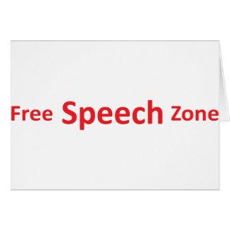 Free Speech Zone, just words Card