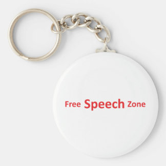Free Speech Zone, just words Key Chain