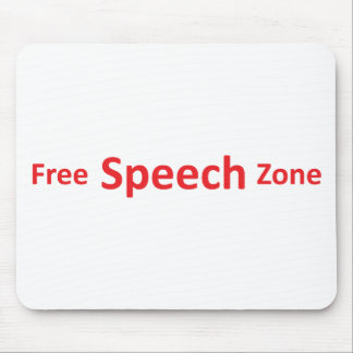 Free Speech Zone, just words Mouse Pad