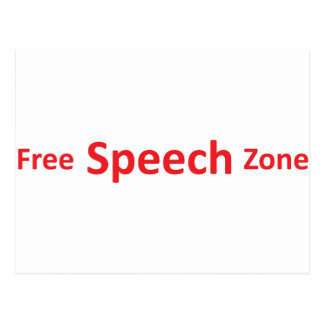 Free Speech Zone, just words Postcard