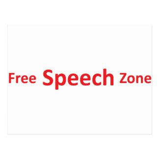 Free Speech Zone, just words Postcard
