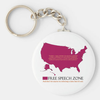 Free Speech Zone Keychains
