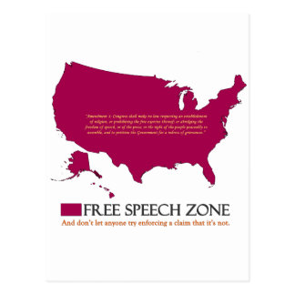 Free Speech Zone Postcard