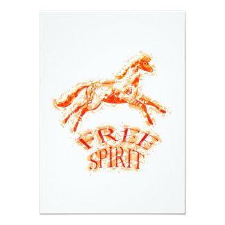 Free Spirit 5x7 Paper Invitation Card