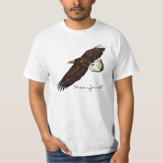 FREE SPIRIT Bald Eagle Mens Value Tee