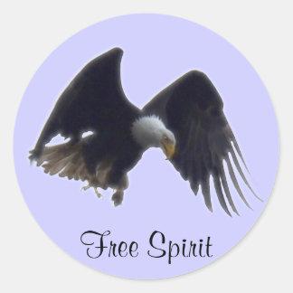FREE SPIRIT Bald Eagle Stickers