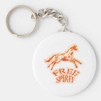 Free Spirit Basic Round Button Keychain