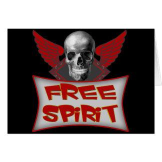 Free Spirit Biker T shirts Gifts Card