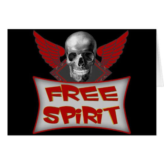Free Spirit Biker T shirts Gifts Card