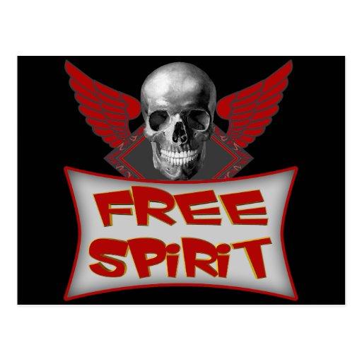 Free Spirit Biker T shirts Gifts Postcard