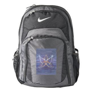 Free-Spirit Butterfly Purple Metallic Gold Trinity Backpack