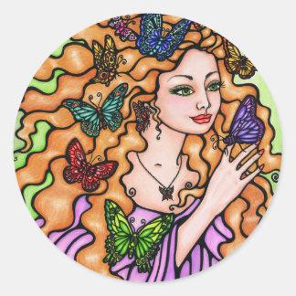Free Spirit by Carole Stevens Bibisi Classic Round Sticker