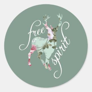 Free Spirit Classic Round Sticker