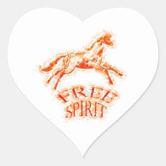 Free Spirit Heart Sticker