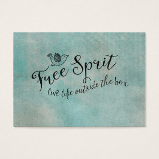 Free Spirit Live Life Outside the box Business Card