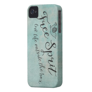 Free Spirit Live Life Outside the box iPhone 4 Covers