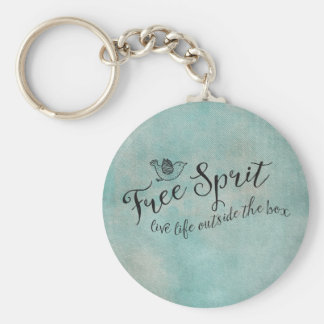 Free Spirit Live Life Outside the box Key Chain