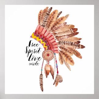 Free Spirit Love Inside Poster