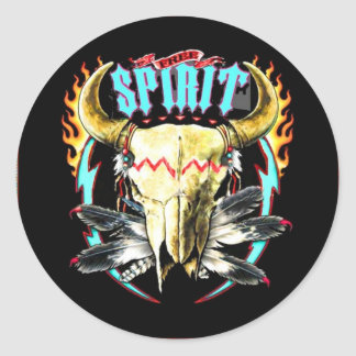 Free Spirit-NA Classic Round Sticker