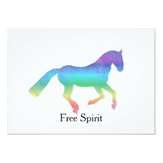 Free Spirit Painted Horse Card