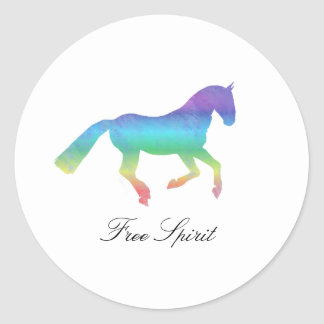 Free Spirit Painted horse Classic Round Sticker