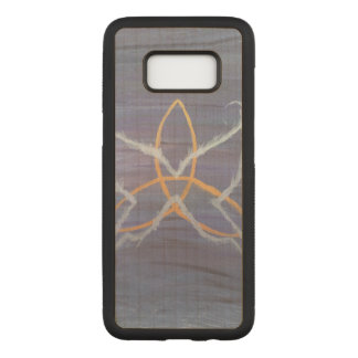 Free-Spirit Purple Butterfly Triquetra Carved Samsung Galaxy S8 Case