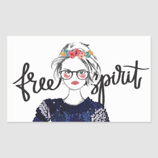 Free Spirit Teen Fashion Vogue Glossy Sticker