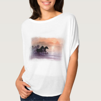 """Free Spirit"" woman's T-shirt with horses"