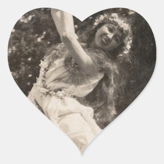 Free Spirited Hippie Fairy Faerie Sprite Girl Heart Sticker