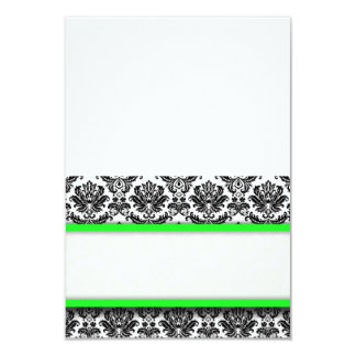 Free Standing Lime Damask Place Cards