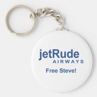 Free Steve Basic Round Button Keychain