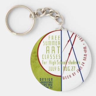 Free Summer Art Classes - WPA Poster - Keychain