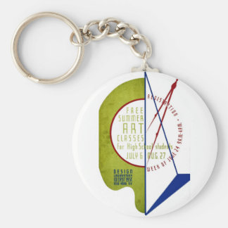 Free Summer Art Classes - WPA Poster - Basic Round Button Keychain