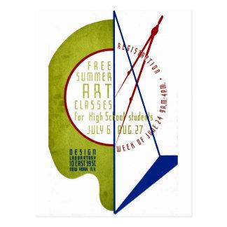 Free Summer Art Classes - WPA Poster - Postcard