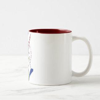 Free Summer Art Classes - WPA Poster - Two-Tone Coffee Mug