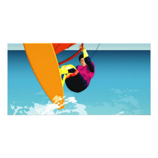 free surfer custom photo card