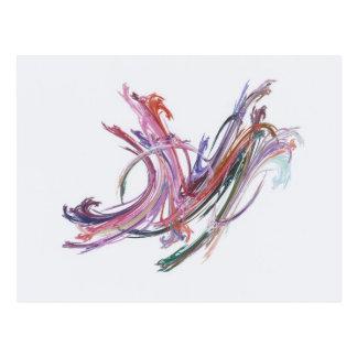 Free Swirls Postcard