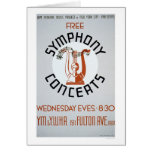 Free Symphony Concerts 1941 WPA Card