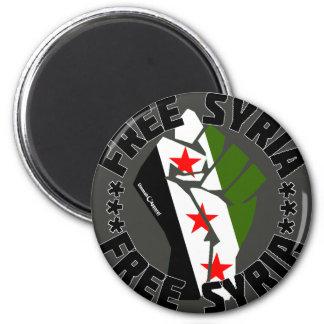 Free Syria 2 Inch Round Magnet