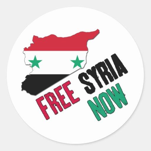 Free Syria Now Stickers