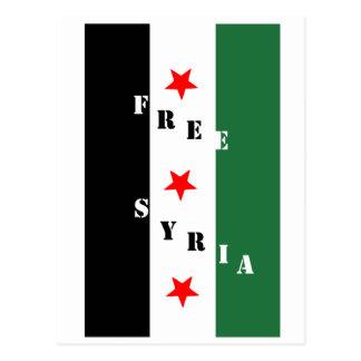 Free Syria Postcard