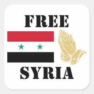 FREE SYRIA SQUARE STICKER