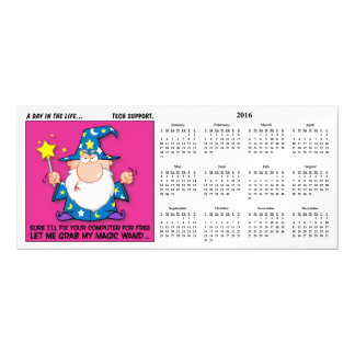 Free Tech Support 2016 Calendar Magnetic Card